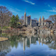 Belvedere Castle And Turtle Pond Poster
