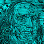 Ben In Wood Turquoise Poster