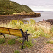Bench At The Bay Poster