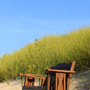 Bench At The Beach Poster