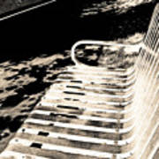 Bench Panorama In Sepia Poster