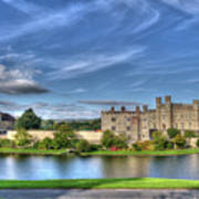 Bench View Of Leeds Castle Poster