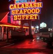 Bennetts Calabash Seafood Buffet Myrtle Beach Poster by Corky Willis Atlanta Photography