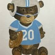 Benny Bear Football Poster