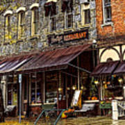 Bentleys Restaurant Woodstock Vermont Poster