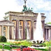 Berlin Brandenburg Gate Poster