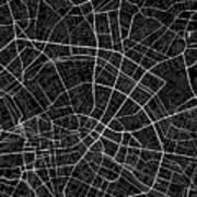Berlin Germany Dark Map Poster