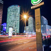 Berlin - Potsdamer Platz Square At Night Poster