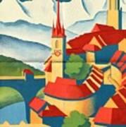 Berne Switzerland - Folded Poster