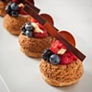 Berries And Cream Choux By The Famous Poster