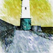 Berwick Lighthouse As Graphic Art. Poster