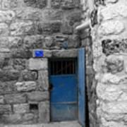 Bethlehem - Blue Old Door Poster