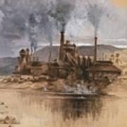 Bethlehem Steel Works In May 1881 Poster