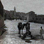 Bethlehem Street Scene 1911 Poster