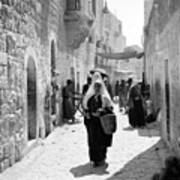 Bethlehemite Going To The Market Poster