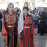 Bethlehemites In Traditional Dress Poster