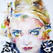 Bette Davis - Watercolor Portrait Poster