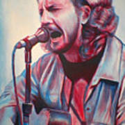 Betterman Eddie Vedder Poster by Derek Donnelly