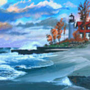 Betzie Lighthouse Poster