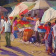 Bhuj Street Market Poster by Beth Brooks
