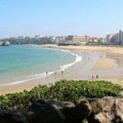 Biarritz Beach Panorama Poster