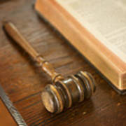 Bible And Gavel Poster