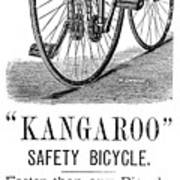 Bicycle Ad, 1885 Poster