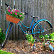 Bicycle Garden Poster