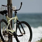 Bicycle On The Beach Poster by Julie Niemela