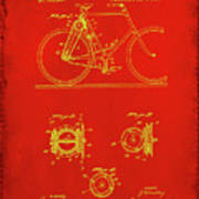 Bicycle Patent Drawing 4c Poster