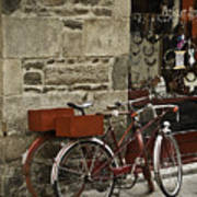 Bicycles  Dinan  France Poster