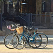 Bicycles On Main Street Poster