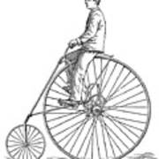 Bicycling, 1880 Poster
