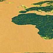 Big Abstract World Map  Poster