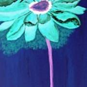 Big Aqua Flower Poster