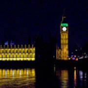 Big Ben Along The Thames Poster
