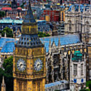 Big Ben And Westminster Abbey Poster