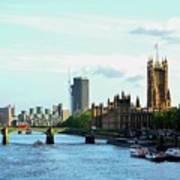 Big Ben, Parliament And River Thames Poster