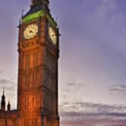 Big Ben Twilight In London Poster