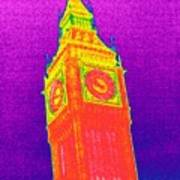 Big Ben, Uk, Thermogram Poster by Tony Mcconnell