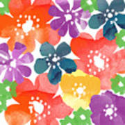 Big Bright Flowers Poster