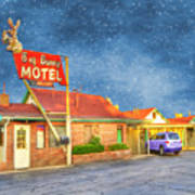Big Bunny Motel Poster by Juli Scalzi