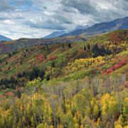 Big Cottonwood Canyon Fall Colors Poster