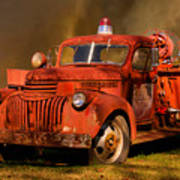 Big Fire - Old Fire Truck Poster