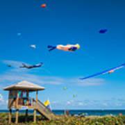 Big Kites Delray Beach Poster