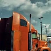 Big Orange Truck Poster
