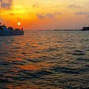 Big Pass Sunset Sarasota Florida Poster