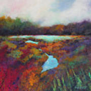 Big Pond In Fall Mc Cormick Woods Poster