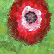 Big Red Flower Poster