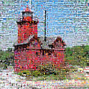 Big Red Photomosaic Poster